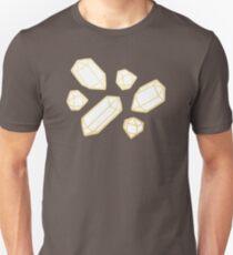 Gold and White Gemstone Pattern T-Shirt