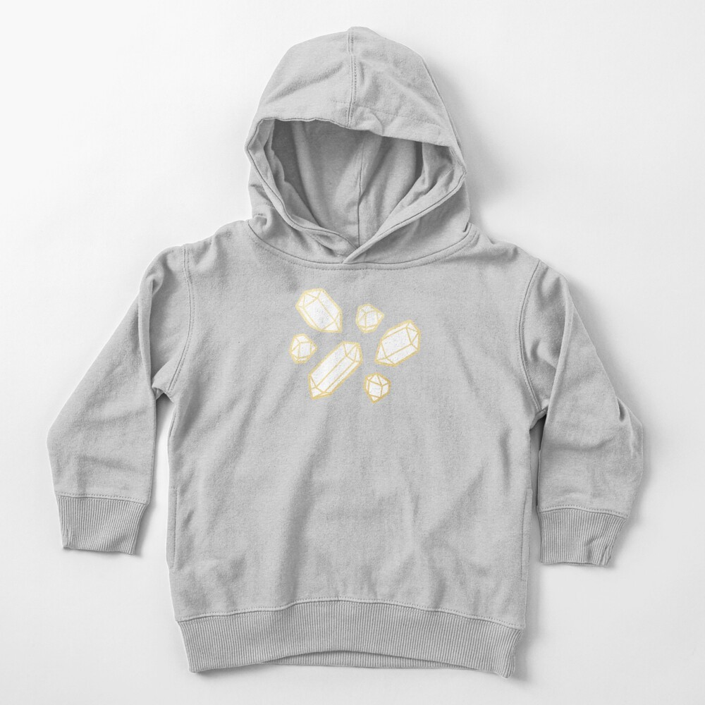 Gold and White Gemstone Pattern Toddler Pullover Hoodie
