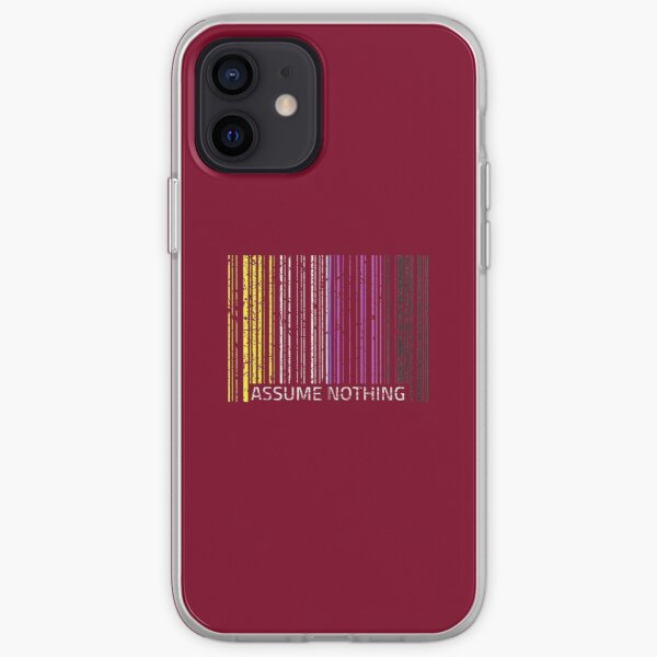Assume Nothing Nonbinary Flag Genderqueer LGBTQIA Pride Nice Gift iPhone Soft Case