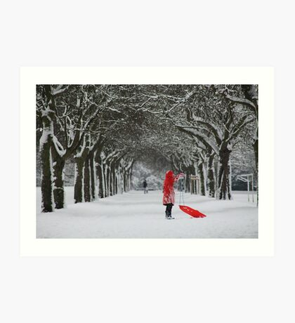 The Girl in Red Art Print