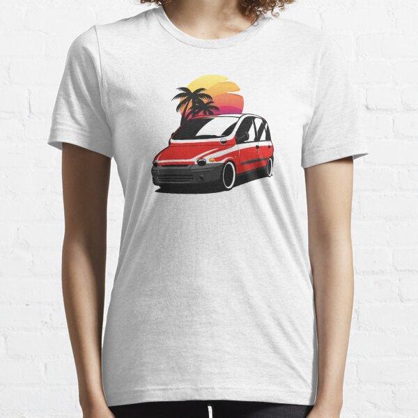 Red Fiat Multipla Sunset Essential T-Shirt