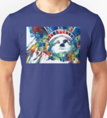 Colorful Statue Of Liberty - Sharon Cummings T-Shirt
