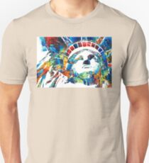 Colorful Statue Of Liberty - Sharon Cummings T-Shirt