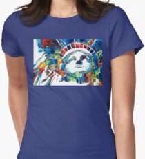 Colorful Statue Of Liberty - Sharon Cummings Womens Fitted T-Shirt