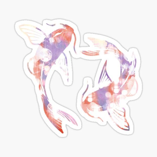 Dreamy Koi fishes Sticker