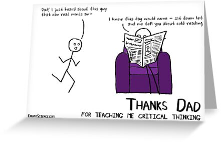 Thanks dad for teaching me critical thinking by ErrantScience