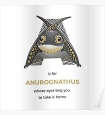 A is for Anurognathus Poster