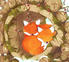 Foxes  by LaureS