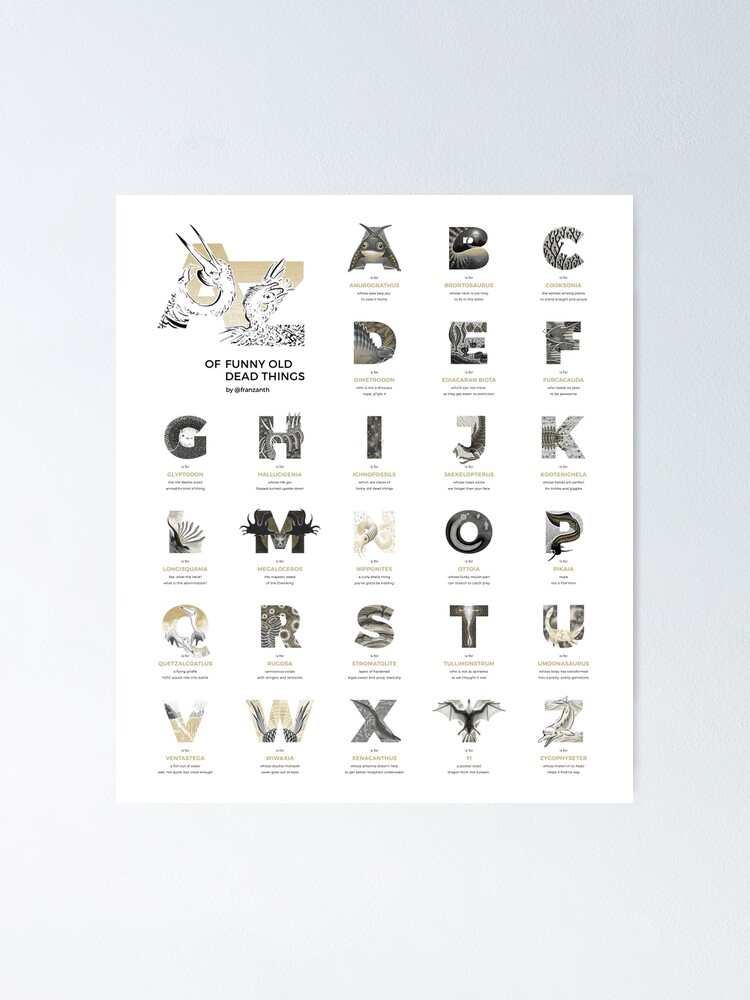 Alternate view of A-Z of Funny Old Dead Things Poster