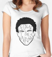 Because The Internet - Black Women's Fitted Scoop T-Shirt