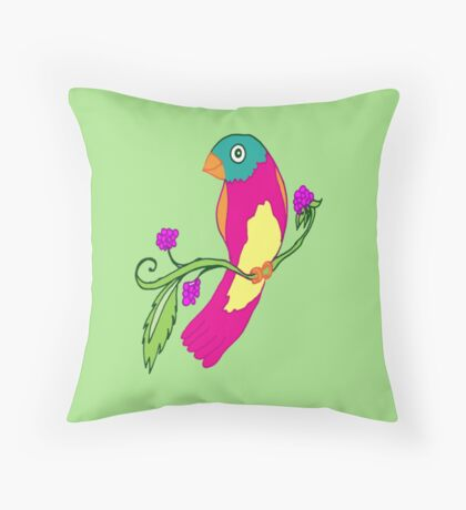Living in Paradise Throw Pillow