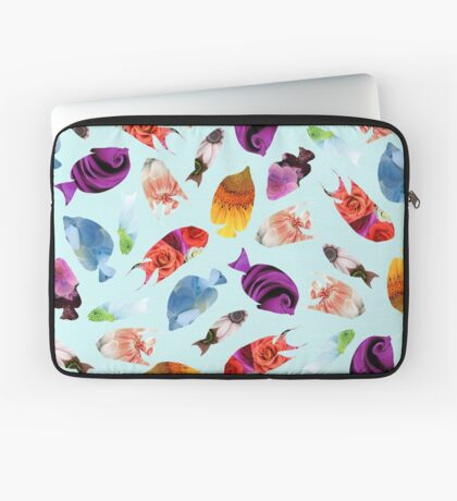 Fish shaped Flowers Housse de laptop