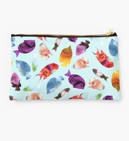 Fish shaped Flowers Studio Pouch