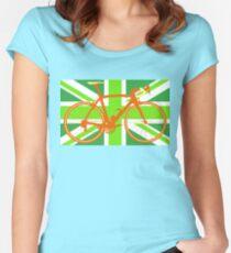 Bike Flag United Kingdom (Green) (Big - Highlight) Women's Fitted Scoop T-Shirt