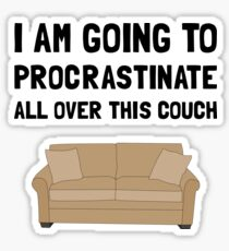 Procrastinate Couch Sticker