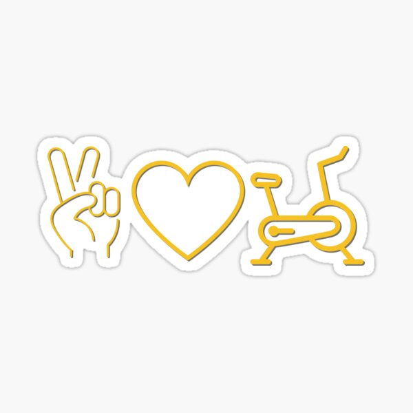 Peace Love Spin Sticker