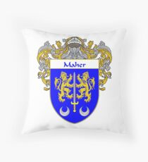 Maher Coat of Arms/Family Crest Throw Pillow