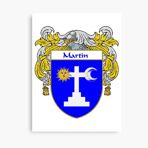 Martin Coat of Arms/Family Crest Canvas Print