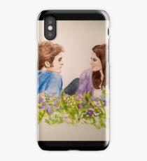 Twilight Scene Watercolor Painting  iPhone Case