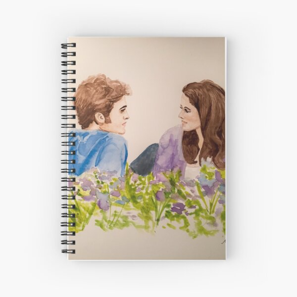 Twilight Scene Watercolor Painting  Spiral Notebook