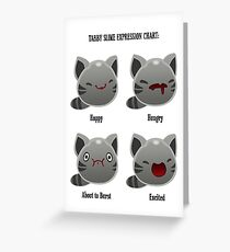 Tabby Slime Expression Chart Greeting Card