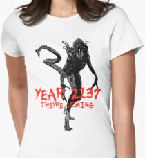"NEW* ALIEN: ISOLATION MERCHANDISE... ""YEAR 2137 NEVER FORGET"" Women's Fitted T-Shirt"