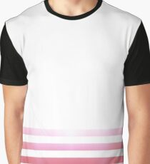 Red and Pink Stripe Graphic T-Shirt