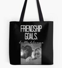 Freundschaftsziele; ButtahBenzo-- Weiß Tote Bag