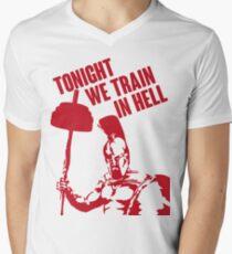 TONIGHT_WE_TRAIN_IN_HELL Men's V-Neck T-Shirt