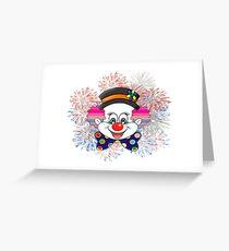 Clown.  fun and cute colorful clown, Fireworks Greeting Card