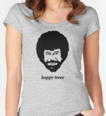 happy trees Women's Fitted Scoop T-Shirt