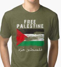 Vintage Free Palestine T shirts & Gifts Tri-blend T-Shirt