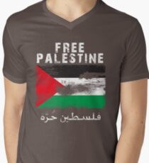 Vintage Free Palestine T shirts & Gifts Men's V-Neck T-Shirt