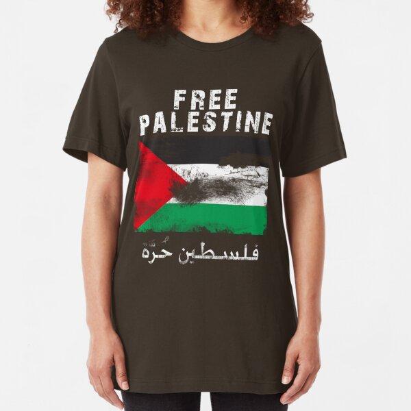 Vintage Free Palestine T shirts & Gifts Slim Fit T-Shirt