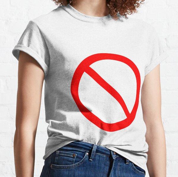 Panneau d'interdiction de petit ami FNF T-shirt classique