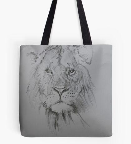 Lion-sketch Tote Bag