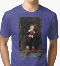 John Singer Sargent - Robert 1879. Child portrait: cute baby, kid, children, pretty angel, child, kids, lovely family, boys and girls, boy and girl, mom mum mammy mam, childhood Tri-blend T-Shirt
