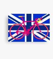 Bike Flag United Kingdom (Blue) (Big - Highlight) Canvas Print