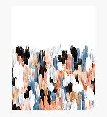 Copper Brush Strokes Photographic Print