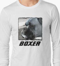 Black and white boxer headshot T-Shirt