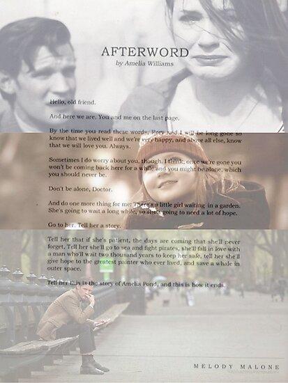 Afterword By Amelia Williams by AlexBeloe