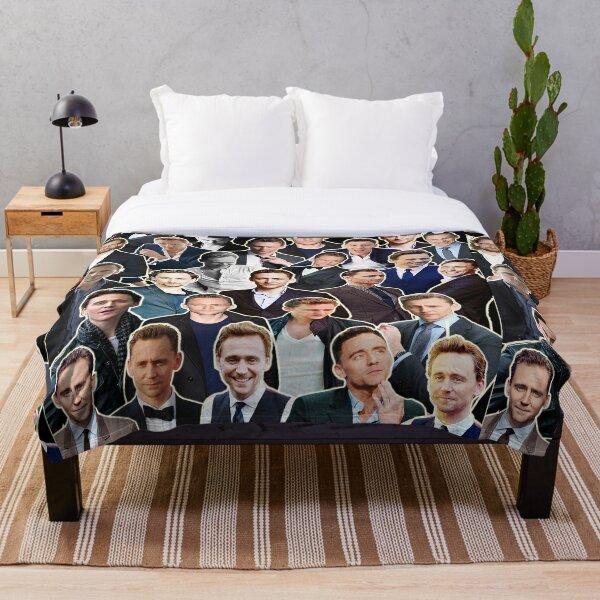 Tom Hiddleston Collage - Aquarius Zodiac Throw Blanket