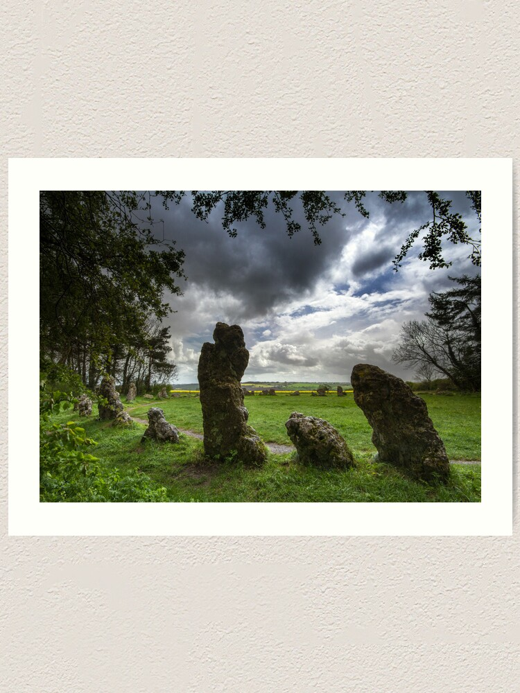 Alternate view of The Rollright Stones -The King's Men Art Print