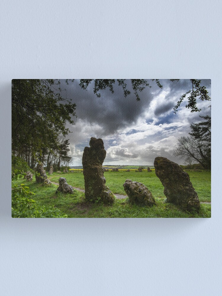 Alternate view of The Rollright Stones -The King's Men Canvas Print