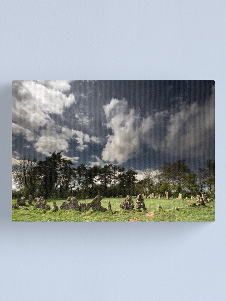 Alternate view of The Rollright Stones at Beltane Canvas Print