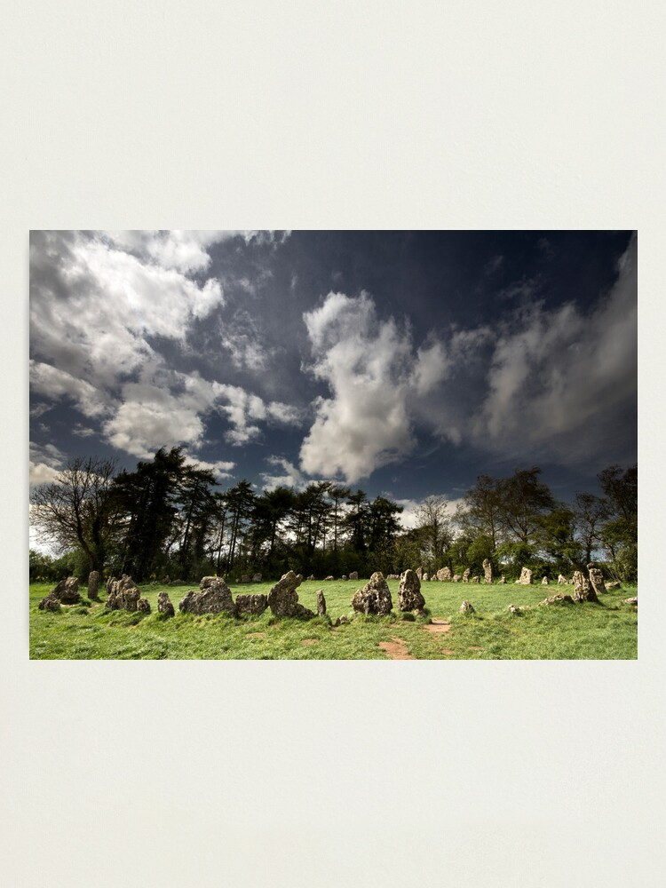 Alternate view of The Rollright Stones at Beltane Photographic Print