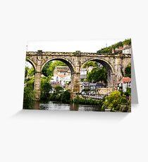 Knaresborough viaduct Greeting Card