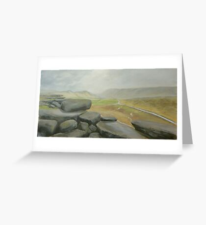 Wet day at Stanage Edge Greeting Card