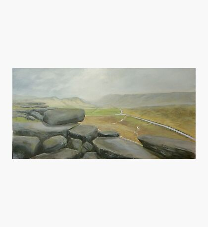 Wet day at Stanage Edge Photographic Print