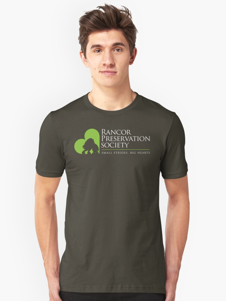 Rancor Preservation Society - Brown Unisex T-Shirt Front